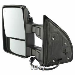 Towing Mirror Power Folding Telescoping Heat Signal Memory Chrome Pair for F350