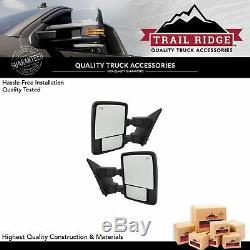 Trail Ridge Tow Mirror Power Fold Extend Heat Memory Signal Chrome Pair for Ford
