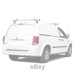 Universal 2 Bar 60'' Aluminum Pickup Truck Cap Topper Van Roof Ladder Rack White