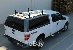 Universal Pickup Truck Cap Topper 2 Bar Adjustable Van Ladder Roof Racks Steel